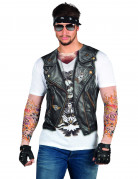 Tätowierung Motorradfahrerjacke T-Shirt für Erwachsene