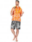 Oranges Hawaii-Hemd für Herren
