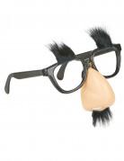 Brille mit Nase und Schnurrbart