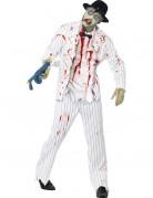 Weißes Zombie-Gangster Halloween Kostüm für Männer