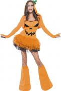 Sexy Kürbis-Kostüm für Damen Halloween