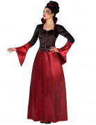 Halloween Rotes und schwarzes Vampir Kostüm für Damen