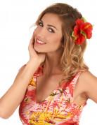 Haarklammer Hawaii mit roten Blumen
