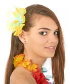 Haarklammer Hawaii mit gelben Blumen