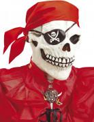 Skelett-Vollgesichtsmaske Pirat für Erwachsene Halloween