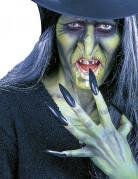 Schwarze Kunstnägel für Erwachsene Halloween