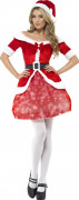 Leuchtendes Miss Santa Kostüm
