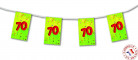 Wimpel-Girlande 70 Jahre aus Papier (4 m)