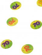 Konfetti mit der Zahl 70 bunt 10g