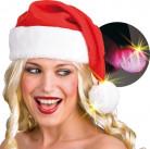 Santa Claus leuchtende Mütze XXL für Erwachsene