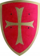 Ritterschild für Kinder rot-goldfarben