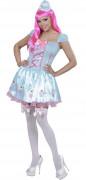 Blaues Cupcake-Kostüm für Frauen