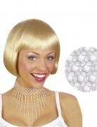 Halskette mit weißen Perlen