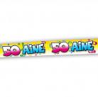 Banner zum 50. Geburtstag multicolour