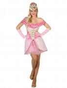 Sexy rosa Prinzessinnen-Kostüm für Damen
