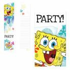 6 Einladungskarten mit Umschlag Spongebob Schwammkopf™