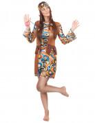 Hippie-Kostüm 60er Jahre für Damen bunt