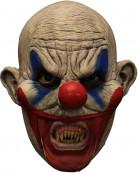 Gruselige 3/4 Clown-Maske für Erwachsene