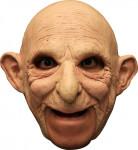 3/4 Maske Alter Mann mit Glatze - Hand bemalt