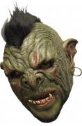 3/4 Deluxe Maske Ork mit Gebiß - Hand bemalt
