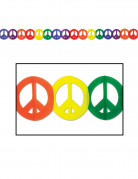 Bunte Peace-Girlande Hippie