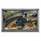 Halloween Dekoration Wandbild fliegende Hexe