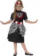 Skelett Rose Kostüm für Mädchen Halloween