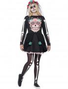 Buntes Skelett Halloween-Kostüm für Teenager