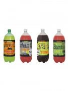4 Monster Etiketten für Flaschen