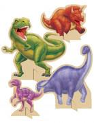 4 Pappfiguren in Dinosaurier-Form