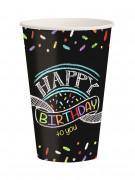 8 Trinkbecher Konfetti Happy Birthday