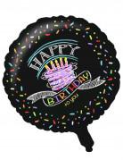 Alu-Luftballon Konfetti Happy Birthday