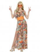 Hippie-Kostüm für Frauen ärmellos bunt