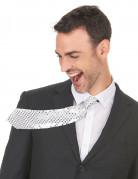 Silberne Pailletten Krawatte