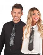 Schwarze Krawatte mit Pailetten für Erwachsene
