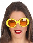 Gelbe Hippie-Brillen