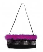 Charleston Handtasche schwarz und rosa für Damen