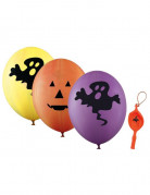 4 Riesenballons 45 cm für Halloween
