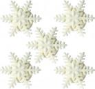 5 kleine Schneeflocken aus Zucker