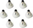 7 Mini Schneemänner aus Zucker