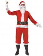 klassisches Weihnachtsmann-Kostüm für Erwachsene mit Mütze