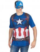 T-Shirt und Maske für Erwachsene aus Captain America Teil 2