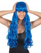 Die perfekte Perücke in blau für die Frau.