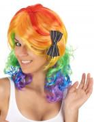 Mittellange mehrfarbige Perücke für Frauen