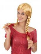 Blonde Perücke mit zwei geflochtenen Zöpfen für Frauen im Schülerinnen Style