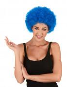 Blaue Afroperücke passend zum Clown