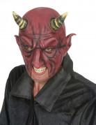 Halbes Gesicht bedeckende Dämon Latexmaske für Erwachsene zu Halloween