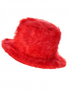 Roter Plüsch-Hut für Erwachsene
