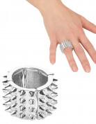 Punkiger Silberring für Damen