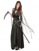 Verkleidung als Frau der Finsternis zu Halloween